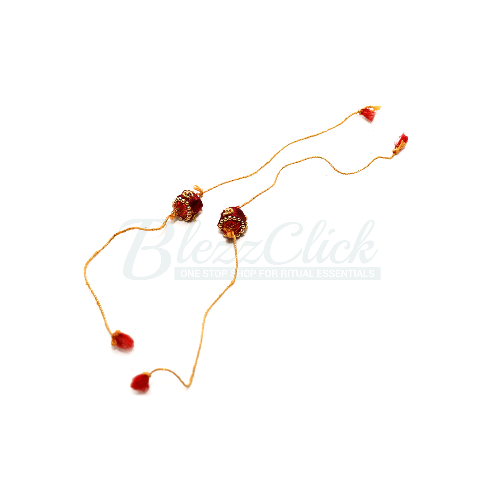 Red & Yellow Mindhal _ Hindu Marriage Accessories