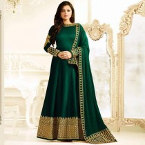 blezzclick's Green Bhagalpuri Silk Heavy Embroidered Salwar suiit