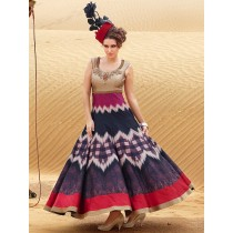 blezzclick's Multi Bhagalpuri Silk Heavy Embroidered Salwar suiit