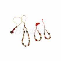 Multicolor Kapoor Gajra _ Hindu Marriage Accessories
