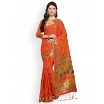blezzclick's PeachcolorArt Silk BanarasiSarees with unstiched blouse