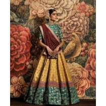 Blezzclick's Multi Color Bhagalpuri Silk Bridal Lehengha Choli